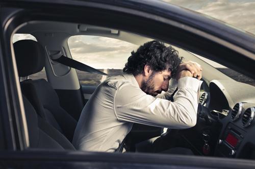 lái xe trời nóng