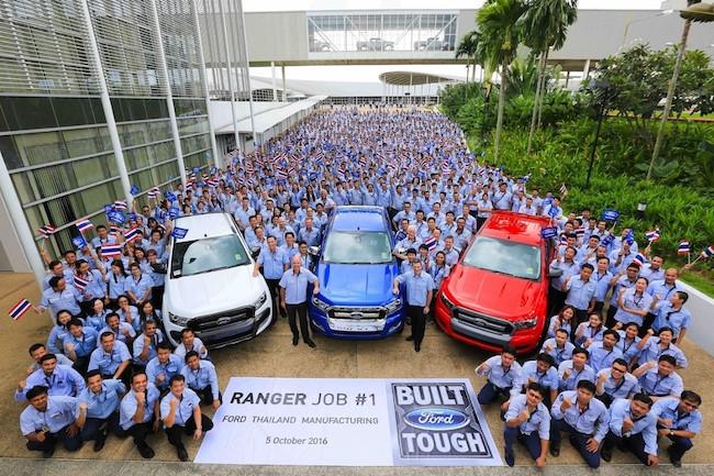 quy trình sản xuất ford ranger